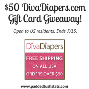 $50 DivaDiapers.com Gift Card Giveaway