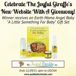 Celebrate The Joyful Giraffe's New Website With A Giveaway! – Ends 11/29/15